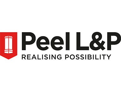 Peel L&P logo white background