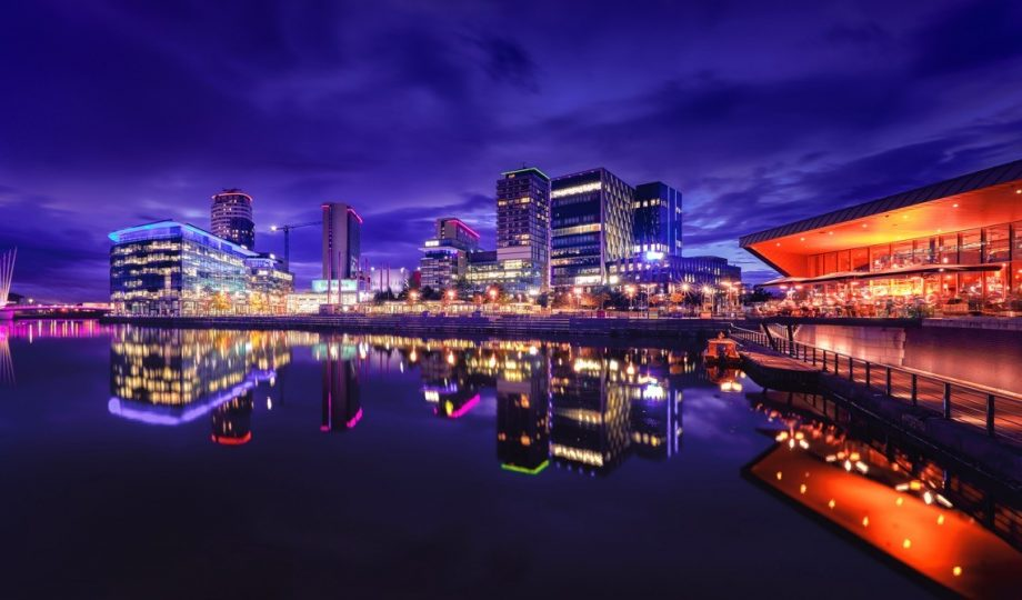 Image of Manchester skyline to reflect their commitment to going net zero carbon by 2030