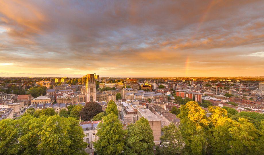 University of Bristol in the dusk