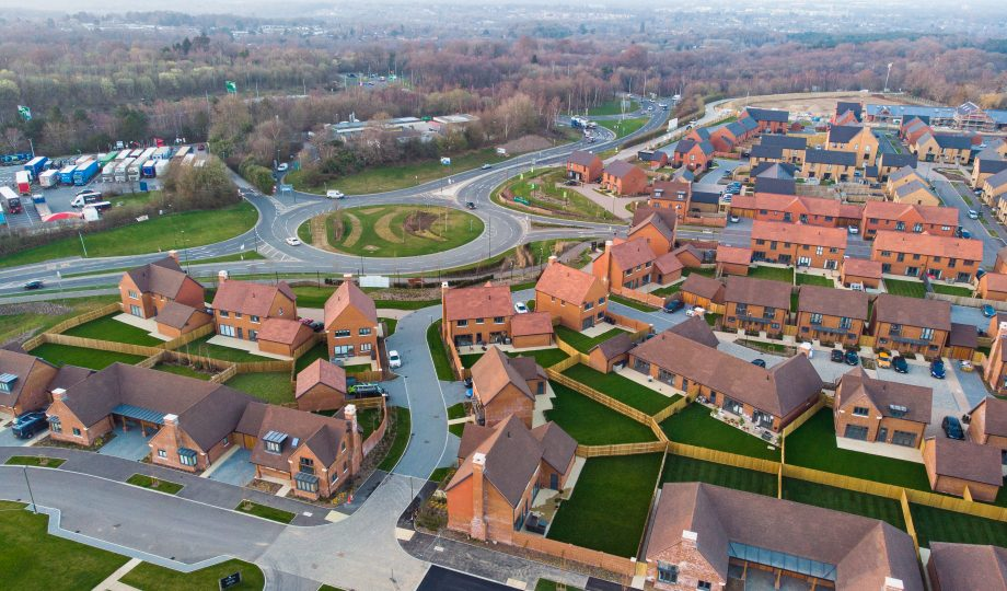 New housing development from above